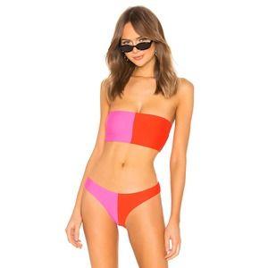 PilyQ Two Tone Bandeau Bikini Top Amor Medium